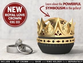 Royal Love Crown Ring Box - Proposal, Engagement in White Processed Versatile Plastic