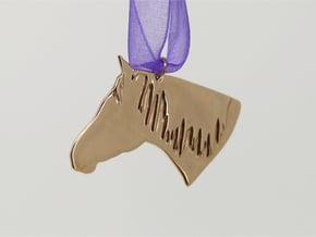 the Dakota Pendant - Precious Metals in Polished Bronze