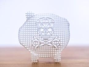 Modern Skull in White Natural Versatile Plastic