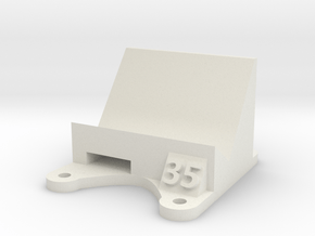 Wizard X220 / X220s: 35 Degree Action Cam Mount in White Natural Versatile Plastic