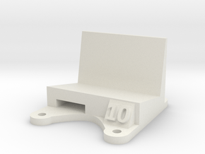 Wizard X220 / X220s: 10 Degree Action Cam Mount in White Natural Versatile Plastic