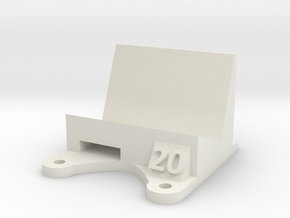 Wizard X220 / X220s: 20 Degree Action Cam Mount in White Natural Versatile Plastic