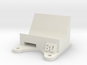 Wizard X220 / X220s: 30 Degree Action Cam Mount in White Natural Versatile Plastic