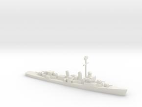 Fletcher-class destroyer (1941-1944), 1/1200 in White Natural Versatile Plastic