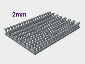 2mm Rivet Heads -Variety Pack in Smooth Fine Detail Plastic