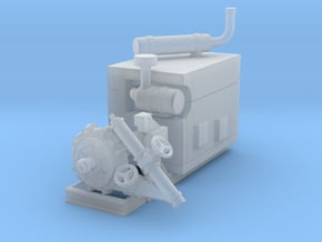 1/87th Diesel Electric Generator Booster Pump in Smooth Fine Detail Plastic