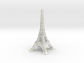 Eiffel Tower (1:2000) in White Natural Versatile Plastic
