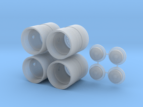 """1/64 42"""" Band duals with hubs set of 4 in Smooth Fine Detail Plastic"""