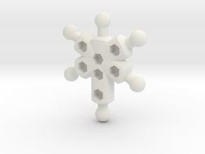 4-Arm Chest for ModiBot in White Natural Versatile Plastic