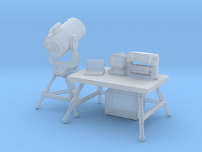 1/87 Scale Telescope & Field Ham Radio Station in Smoothest Fine Detail Plastic