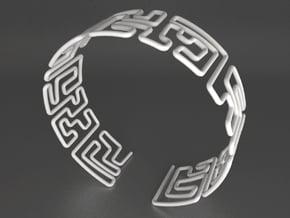 Maze Bracelet Size L in White Natural Versatile Plastic