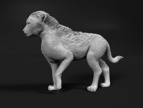Cheetah 1:87 Walking Cub 1 in Smooth Fine Detail Plastic