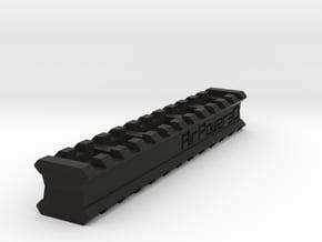 Back-to-Back 12-Slots Picatinny Rails Adapter in Black Natural Versatile Plastic