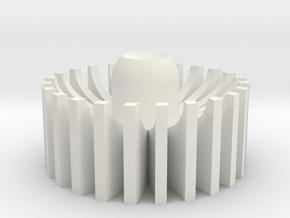 Blade plug inner turbine in White Natural Versatile Plastic