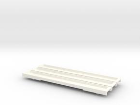 N Gauge 20M 3 Car EMU Floor Set in White Processed Versatile Plastic