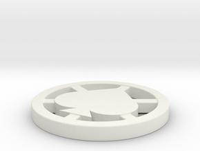 Poker Dealer Button in White Natural Versatile Plastic