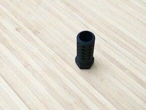 HMP Flash Suppressor (14mm-) Halo M7 SMG Inspired in Black Natural Versatile Plastic