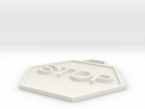 Protest Badge in White Natural Versatile Plastic