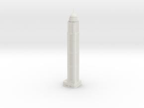 Princess Tower (1:1800) in White Natural Versatile Plastic