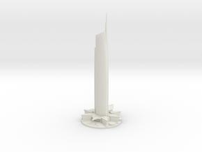 Almas Tower (1:1800) in White Natural Versatile Plastic