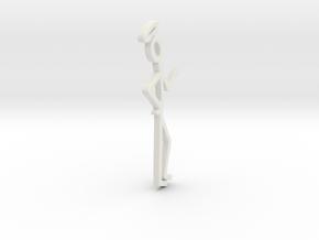 6 inch the saint logo in White Natural Versatile Plastic