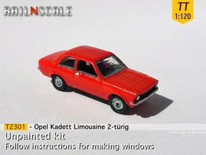 Opel Kadett Limousine (TT 1:120) in Smooth Fine Detail Plastic
