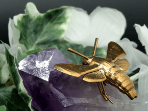 Hummingbird Hawk-Moth Pendant (solid version) in Natural Bronze