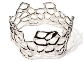 Cells Bracelet (67mm) in Polished Silver