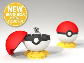 "Pokeball Pokemon Go ""Ring Box"" (PLASTIC TOP COVER) in Red Processed Versatile Plastic"
