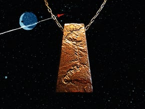Grand Canyon Pendant in Polished Bronze Steel