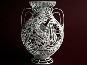 """Chimaera"" - Greek Vase Painting  in White Natural Versatile Plastic"