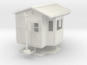 1/50th DOT Weigh scale station building in White Natural Versatile Plastic