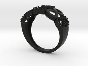 RING in Black Natural Versatile Plastic