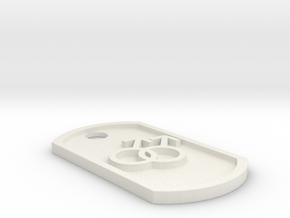 Gay Symbol Dog Tag in White Natural Versatile Plastic