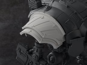 Hazard Warriors - Right Shoulder Pad in Smooth Fine Detail Plastic