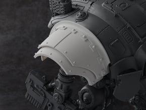 Mechanic - Shoulder Pad in Smooth Fine Detail Plastic