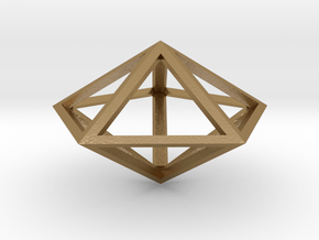 "Pentagonal Bipyramid 1"" in Polished Gold Steel"