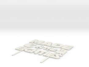 Made in the eighties - Cake Topper in White Natural Versatile Plastic
