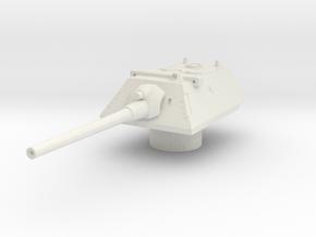 krupp turret for E100 scale 1/100 in White Natural Versatile Plastic