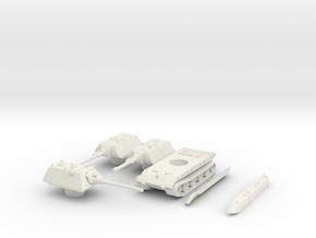 E100 (turret set) scale 1/100 in White Natural Versatile Plastic