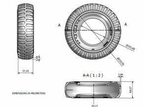 1/6 tire 1400x24 in Black Natural Versatile Plastic