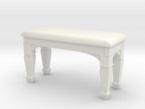 1:48 Piano Bench in White Natural Versatile Plastic