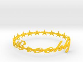 SPECIAL Brooklyn Bracelet -50% OFF in Yellow Processed Versatile Plastic