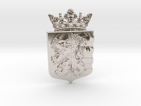 Gemeente Heerlen Stadswapen in Rhodium Plated Brass