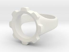 Geared in White Premium Versatile Plastic: 5 / 49