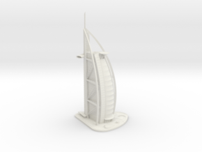 Burj Al Arab (1:2000) in White Natural Versatile Plastic