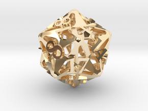 Pinwheel d20 Ornament in 14K Yellow Gold