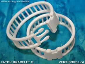 Latch Bracelet 2 in White Natural Versatile Plastic