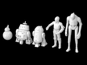 (1/47) Droid Set I in Smooth Fine Detail Plastic