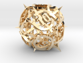 Thorn d12 Ornament in 14K Yellow Gold